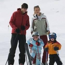 зима, лыжи, термобелье, дети, спорт