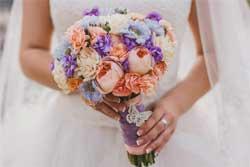 цветы, букет, свадьба, невеста