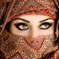 взгляд, платок, паранджа, загадочность