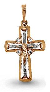 золотой женский крестик