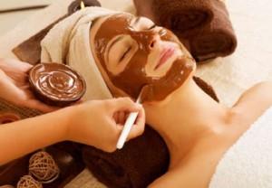 косметология, шоколад, кожа лица