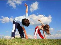 зарядка, упражнения, дети, ребенок