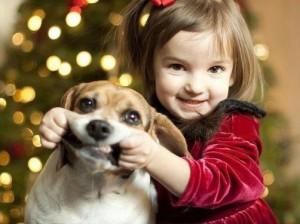 ребенок, собака, домашние животные
