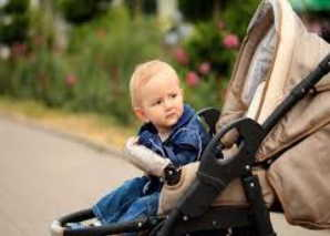 коляска, ребенок, прогулка