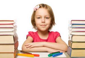 девочка, школа, уроки
