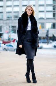 юбка зимой, мода