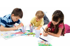 дети, ребенок, рисунок, занятия