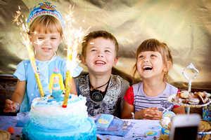 детский праздник, дети, торт