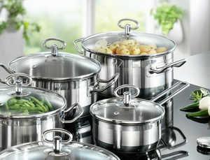 посуда, кастрюли, кухня, плита