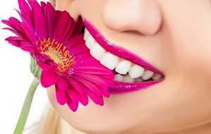 зубы, улыбка, помада