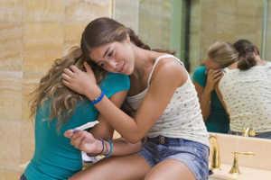 подросток, девушка, плач, настроение